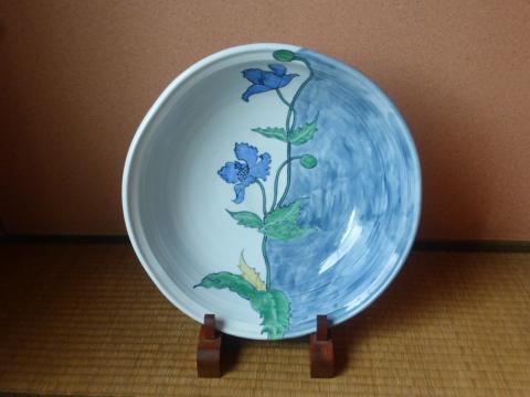 深川巌作青いケシの大鉢